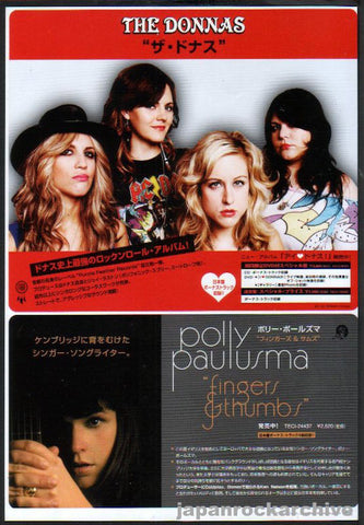 The Donnas 2007/11 Bitchin' Japan album promo ad