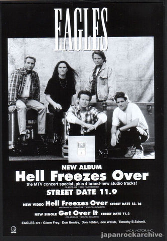 Eagles 1994/12 Hell Freezes Over Japan album promo ad
