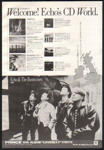 Echo & The Bunnymen 1988/06 CD releases Japan promo album