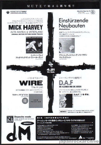 Einsturzende Neubauten 1993/05 Malediction Japan album promo ad