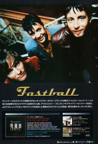 Fastball 2000/10 The Harsh Light Of Day Japan album promo ad