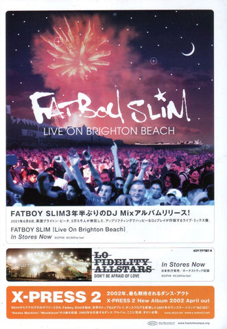 Fatboy Slim 2002/04 Live On Brighton Beach Japan album promo ad