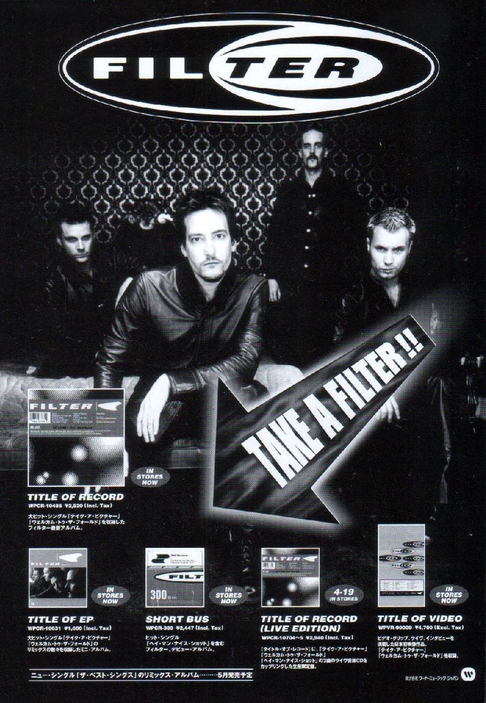 Filter 2000/04 Title Of Record Japan album promo ad