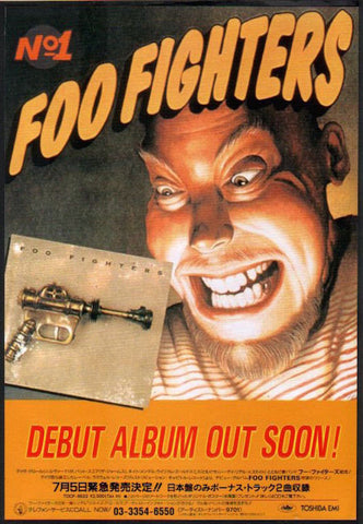 Foo Fighters 1995/08 S/T debut album Japan promo ad
