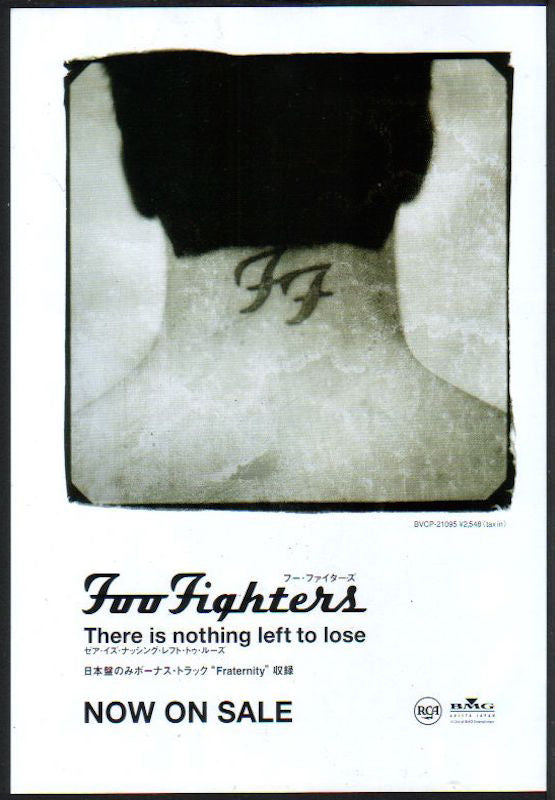 Foo Fighters 1999/12 There Is Nothing Left To Lose Japan album promo ad