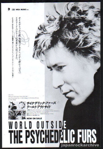 The Psychedelic Furs 1991/09 World Outside Japan album promo ad