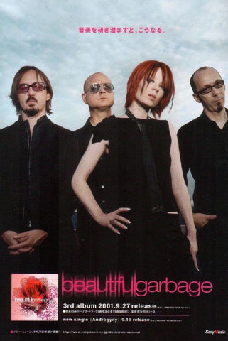 Garbage 2001/09 Beautiful Garbage Japan album promo ad