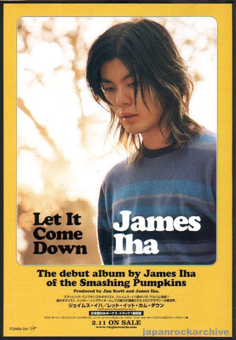 James Iha 1998/03 Let It Come Down Japan album promo ad