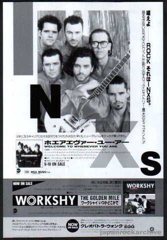 INXS 1992/10 Welcome To Wherever You Are Japan album promo ad