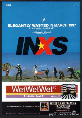 INXS 1997/04 Elegantly Wasted Japan album promo ad