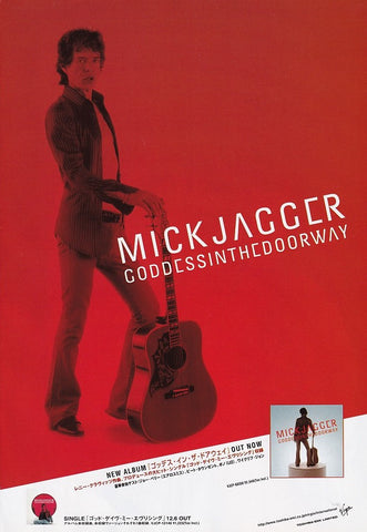 Mick Jagger 2001/12 Goddess In The Doorway Japan album promo ad