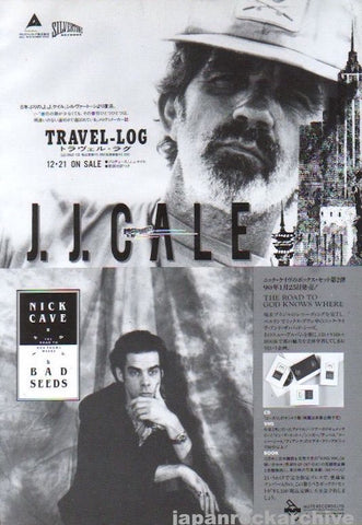 J.J. Cale 1990/02 Travel-Log Japan album promo ad