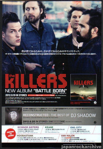 The Killers 2012/10 Battle Born Japan album promo ad