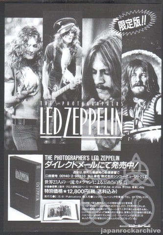 Led Zeppelin 1996/03 The Photographer's Led Zeppelin Japan book promo ad