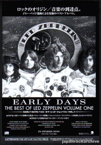 Led Zeppelin 2000/01 Early Days The Best Of Volume One Japan album promo ad