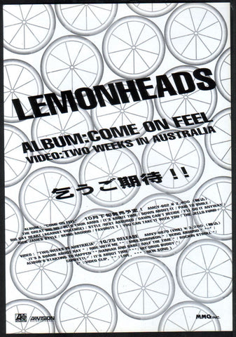 The Lemonheads 1993/11 Come On Feel Japan album promo ad