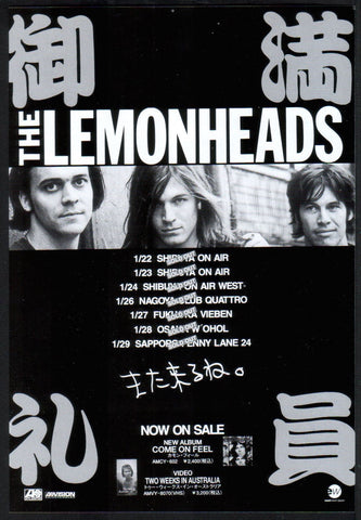 The Lemonheads 1994/03 Come On Feel Japan album / tour promo ad