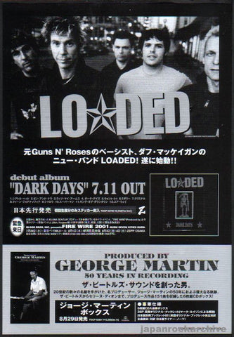 Loaded 2001/08 Dark Days Japan album promo ad