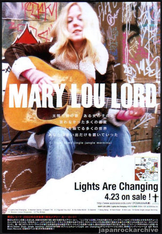 Mary Lou Lord 2003/05 Lights Are Changing Japan album promo ad