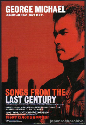 George Michael 2000/01 Songs From The Last Century Japan album promo ad