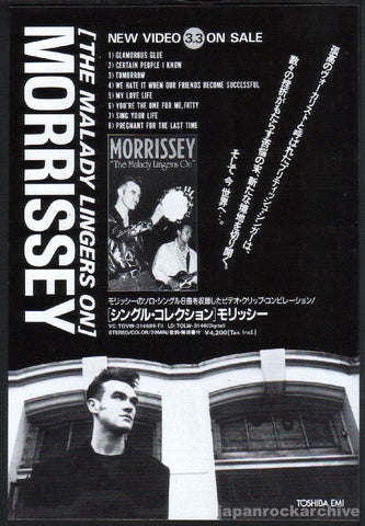 Morrissey 1993/04 The Malady Lingers On Japan video promo ad