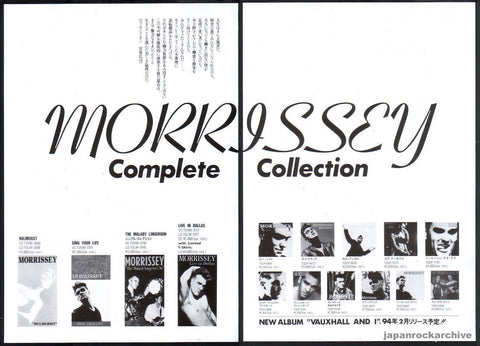 Morrissey 1994/01 Complete Collection Japan album / video ad