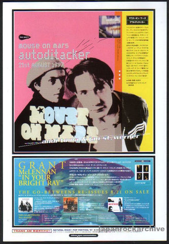 Mouse On Mars 1997/09 Autodictaker Japan album promo ad