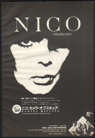 Nico 1986/07 Camera Obscura Japan album promo ad