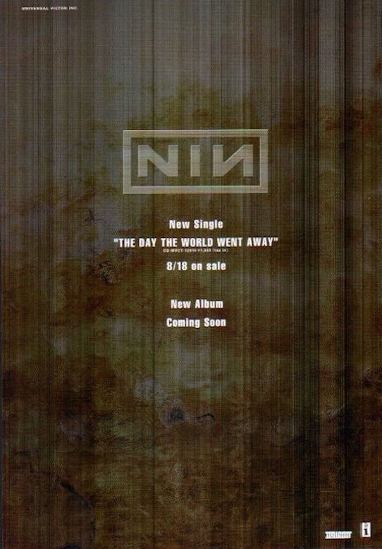 Nine Inch Nails 1999/09 The Day The World Went Away single Japan promo ad