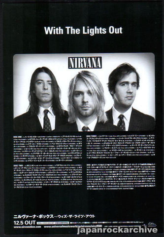Nirvana 2005/01 With The Lights Out Japan album promo ad