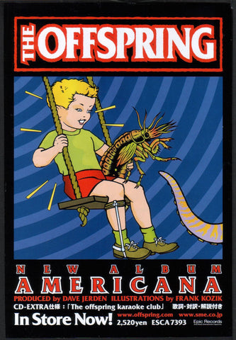 The Offspring 1999/01 Americana Japan album promo ad