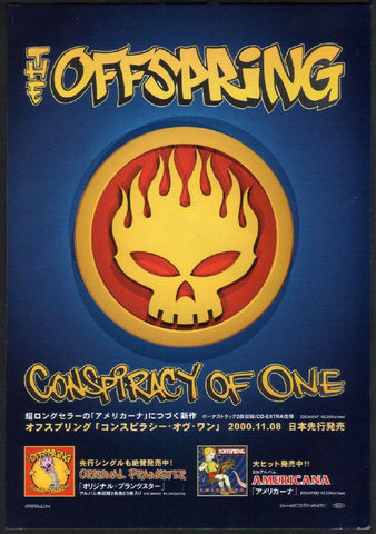The Offspring 2000/12 Conspiracy Of One Japan album promo ad