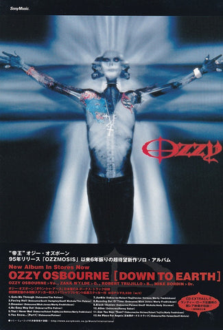 Ozzy Osbourne 2001/11 Down To Earth Japan album promo ad