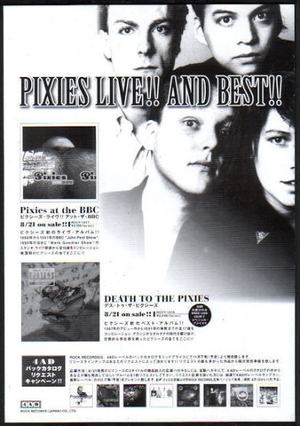 Pixies 1998/09 Pixies at The BBC / Death To The Pixies Japan album promo ad