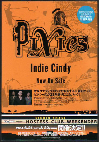 Pixies 2014/06 Indie Cindy Japan album promo ad
