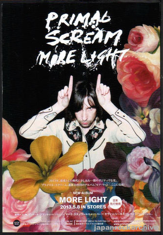 Primal Scream 2013/06 More Light Japan album promo ad