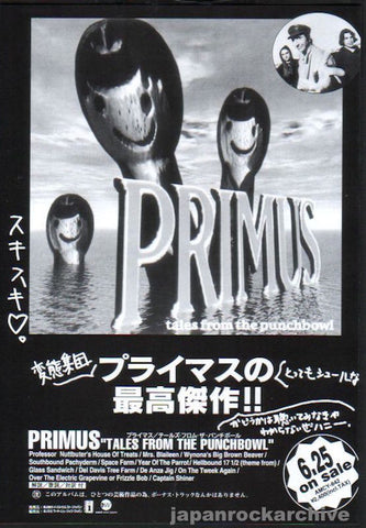 Primus 1995/07 Tales From The Punchbowl Japan album promo ad