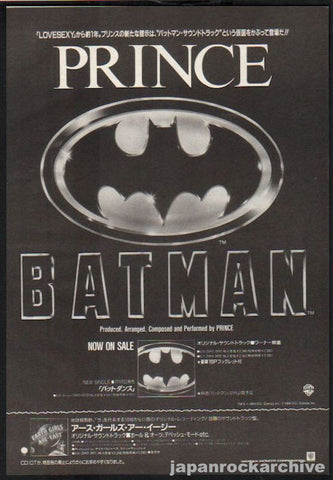 Prince 1989/09 Batman Soundtrack Japan album promo ad