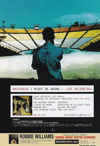 Radiohead 2001/12 I Might Be Wrong : Live Recordings Japan album promo ad