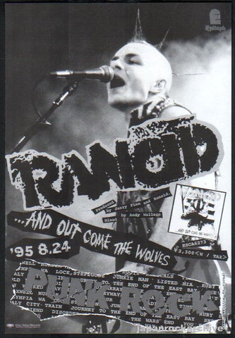Rancid 1995/09 And Out Come The Wolves Japan album promo ad