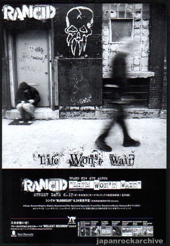 Rancid 1998/07 Life Won't Wait Japan album promo ad