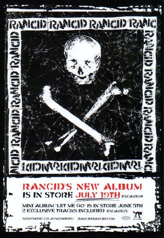 Rancid 2000/08 S/T Japan album promo ad