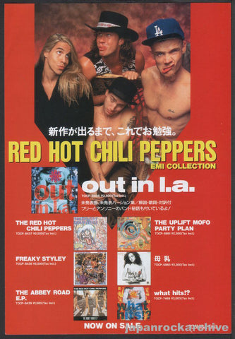 Red Hot Chili Peppers 1995/03 Out In L.A. Japan album promo ad
