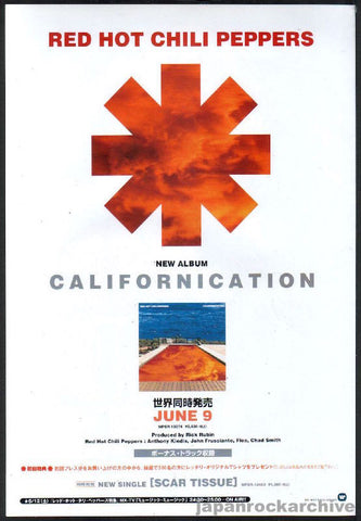 Red Hot Chili Peppers 1999/07 Californication Japan album promo ad
