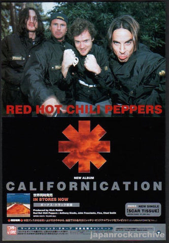 Red Hot Chili Peppers 1999/08 Californication Japan album promo ad
