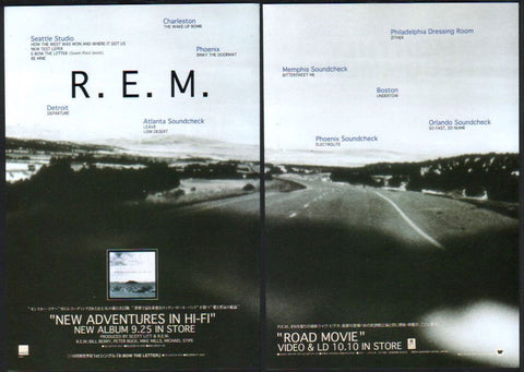 R.E.M. 1996/10 New Adventures In Hi-Fi / Road Movie Japan album / video promo ad