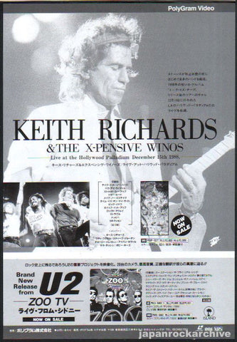 Keith Richards 1994/08 Live At The Hollywood Palladium Japan video promo ad