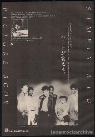 Simply Red 1989/02 Picture Book Japan album promo ad