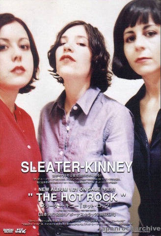 Sleater-Kinney 1999/02 The Hot Rock Japan album promo ad