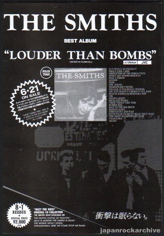 The Smiths 1990/07 Louder Than Bombs Japan album promo ad